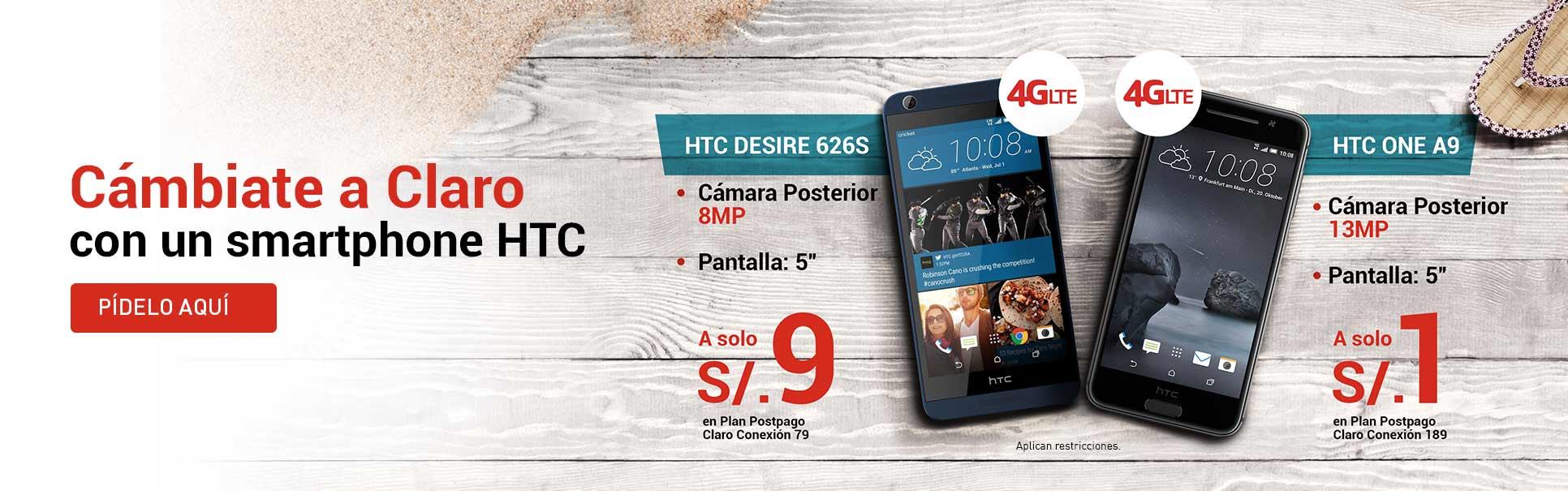cambiate a Claro con  HTC